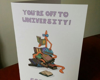 The Book Worm (University) Greetings Card