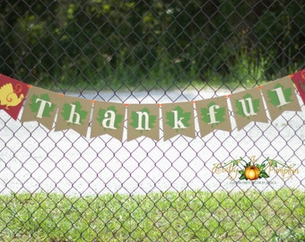 Thanksgiving Banner, Holiday Banner, Thankful Banner