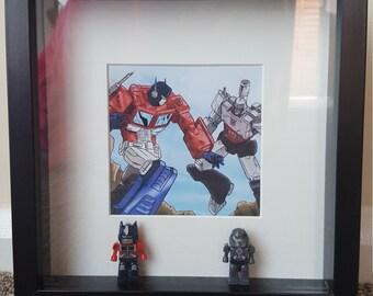 Transformers Lego Artwork - Framed