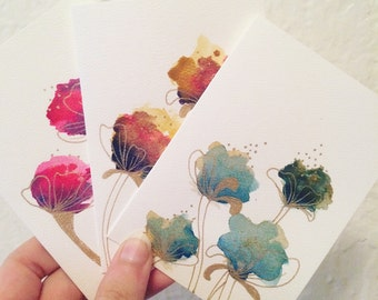 Floral Watercolor Card Set