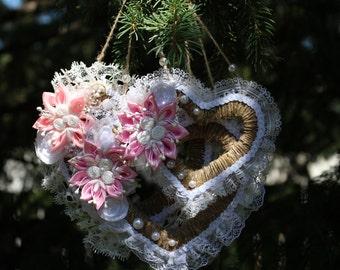 3 Hearts, Wall Decor, Wedding Decoration, Anniversary Present, Valentine Gift, Valentines