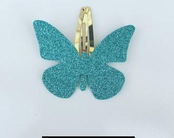Sparkly, Glitter Butterfly Hair Clip / Band - Handmade