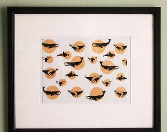 12x10 Whale Print