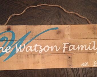 Est. Family Sign