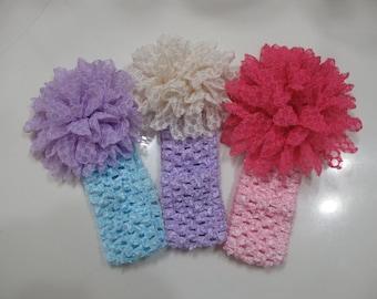 Infant headbands - Baby headbands set of 3-Baby girl headband- Newborn Photography prop - Baby Hair Accessories - baby hair bows - Baby Bows