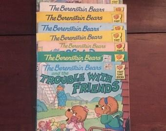 Vintage Berenstain Bears children's books, Vintage children's books, Vintage cartoon family books, Berenstain Bears books, 1980's readers