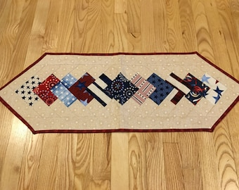 Patriotic Quilted Table Runner