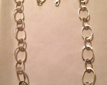 Sterling Silver Large Chain Link Necklace