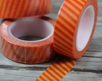 Red Stripe Washi Tape- Striped Washi Tape