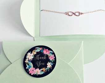 Infinity Bracelet rose gold, Infinity, Infinity, Bridesmaid Gift, Gift, Love, Eternity