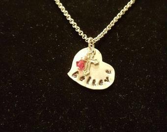 """Metal """"Believe"""" necklace"""