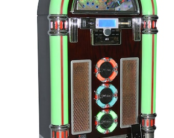 Brand New Jukebox For Sale Classic Style Plays Ipod CDs Mp3 USB and More. Free Delivery Australia Wide Juke Box