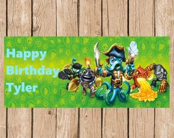 Skylanders Birthday Vinyl Banner