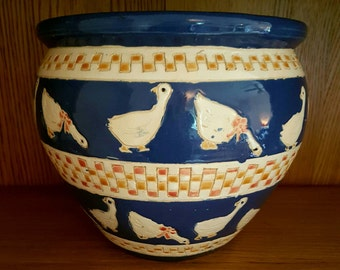 Goose Duck Ceramic Plant Pot