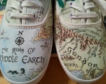 CUSTOM Handpainted Canvas Shoes