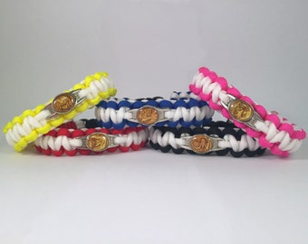 Mighty Morphin Power Rangers Paracord Bracelet