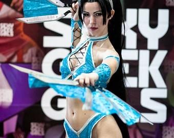 Kitana cosplay costume from Mortal Kombat 9