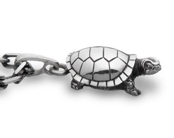 Turtle necklace, Turtle jewelry  / Solid Sterling Silver (Silver 925)