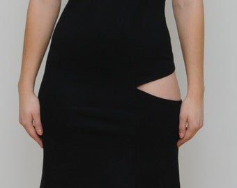 dress with cut out