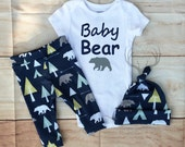 Baby Boy Coming home Outfit Set, Baby Bear ,Navy Blue, Mint, Yellow, Arrows,Teepees, Bears,Country Outfit,leggings,hat