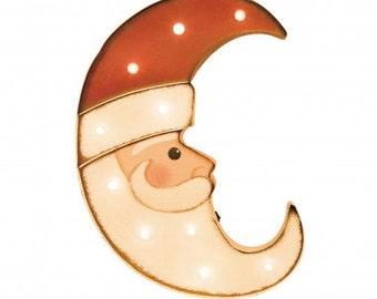 "Christmas Marquee LED, Santa Head Moon light, 16.15""H"