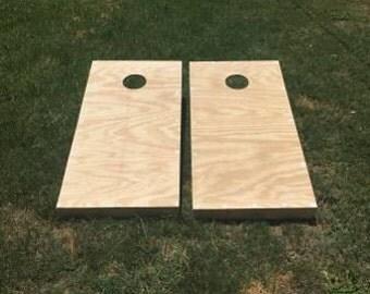 Plain Unfinished Cornhole Board Set | Bag Toss | Yard Game