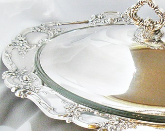2 Quart Towle Old Master Silver Plated Oval Covered Casserole