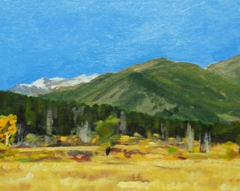 Landscape painting: Rocky Mountain National Park, Colorado