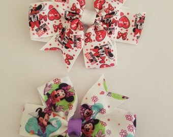 Character Hair Bow Clips