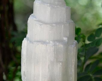 Raw Selenite Lamp