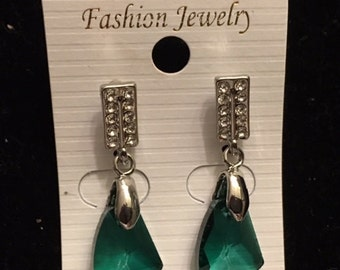 New Green Crystal Earrings