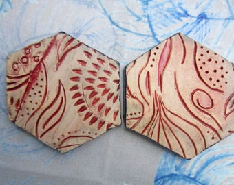 Ceramic Coasters Set of 2