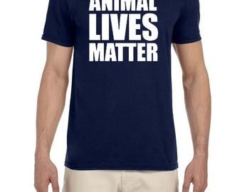 Animal Lives Matter Logo Shirt Support All Lives Matter Stop Animal Abuse NEW Animal Rights Pets Dogs Cats