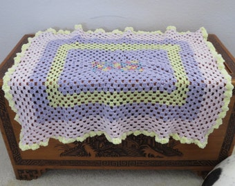 Pink, Purple & Yellow Pastels Blanket