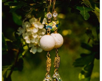 Wedding Earrings with Swarovski elements