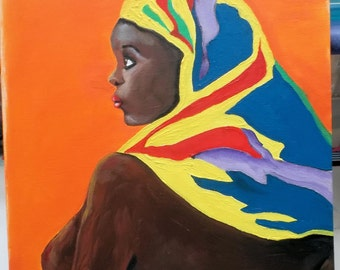 Photo Copy of Original Painting - African Woman