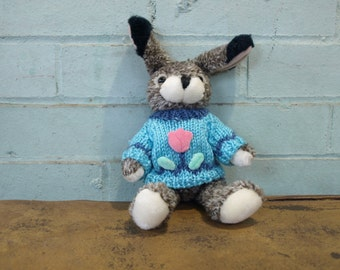 Stuffed Bunny with Sweater