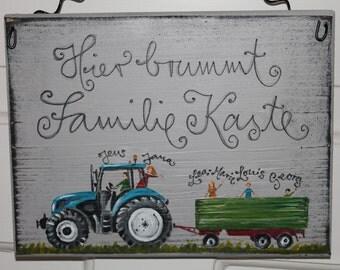 Door plate tractor