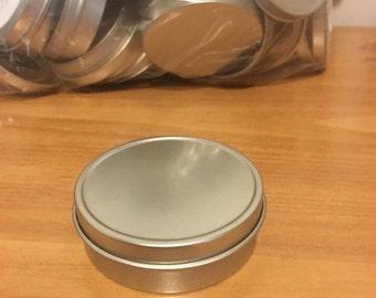 12 Pack. 2 oz Metal Tin w/ Lid. Cosmetic. Packaging. Supplies.