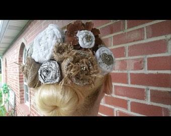 Shabby Chic Flower Crown