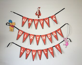 Tigger from Winnie the Pooh themed birthday banner/sign