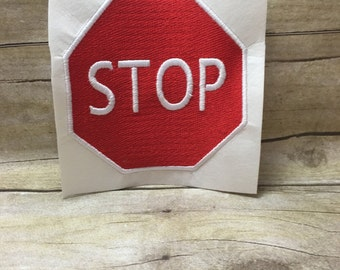 Stop Sign Embroidery Design, Stop Sign Filled In Embroidery Design