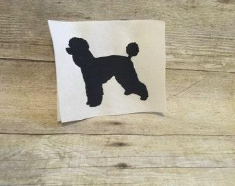Poodle Embroidery Design, Poodle Applique