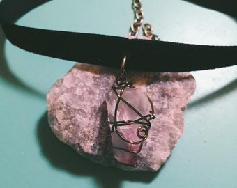 Fluorite Wire Wrapped Choker