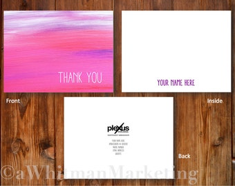 "DIGITAL* File of Thank You Folded Note Card in ""Paint"""
