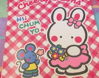 25% OFF! Vintage 1995 Sanrio Cheery Chums Stationary Pad