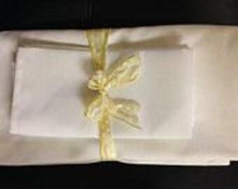 71 X 71 White Linen Set for Diner En Blanc