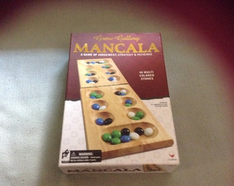 Brand New Wooden Mancala Game