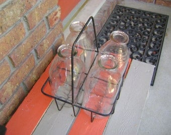 Vintage Glass Milk Bottles