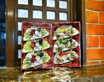 Set of 3 Capiz Shell Refrigerator Magnet